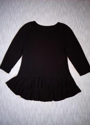 Черный вискозный свитер кофта