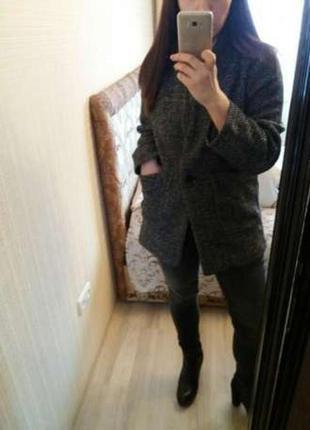 Стильное шерстяное пальто от h&m 38р. оригинал