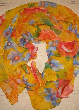 Стильный яркий платок с цветами, с&а кунда германия
