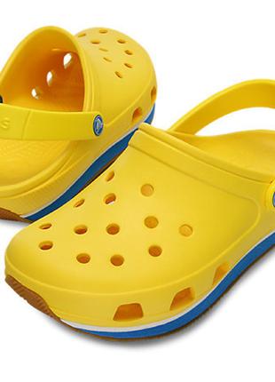 Желтые сабо crocs retro clog m6-w8, оригинал.