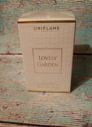 Туалетная вода lovely garden oriflame