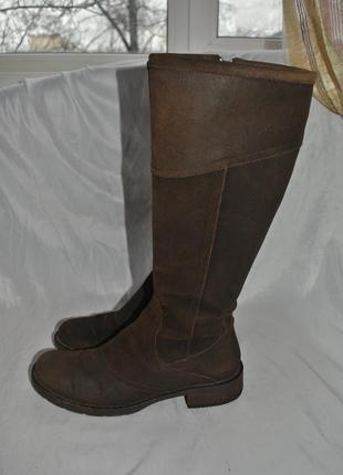Сапоги демисезонные geox 40-41 р натуральная кожа
