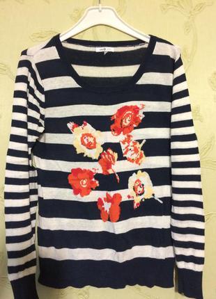 Полосатый свитер  oodji