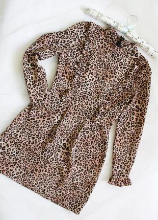 Очень красивое леопардовое платье topshop