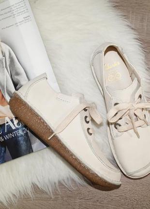 (40р.) clarks! кожа/нубук! стильные комфортные ботинки