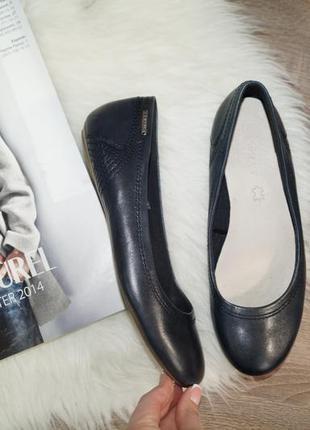 (38р.) esprit! кожа! красивые комфортные балетки, туфли