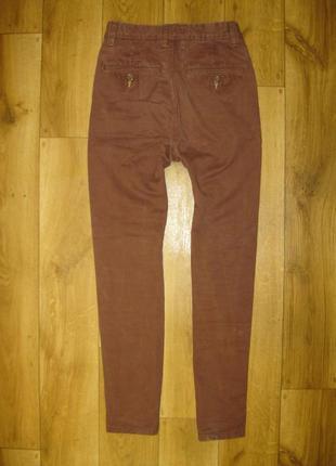 Штаны джинсы коричневые плотные next