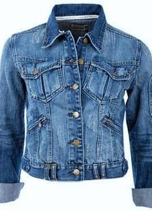 Крутая стильнючая джинсовая курточка crafted