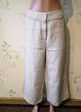 Marks & spencer оригинальные летние штанишки 100% лен