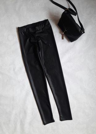 Актуальные кожаные лосины, матовые, отличного качества! united colors of benetton. р-р xs/s
