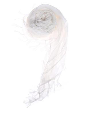 Очень нежный белый шарф,платок,палантин с кружевной тесьмой и кисточками,h&m