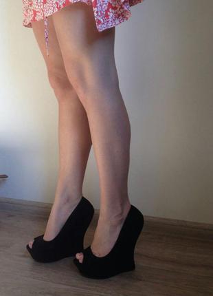 Туфли удобные на танкетке promod