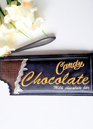 Forever 21 клатч в виде шоколадки черный коричневый