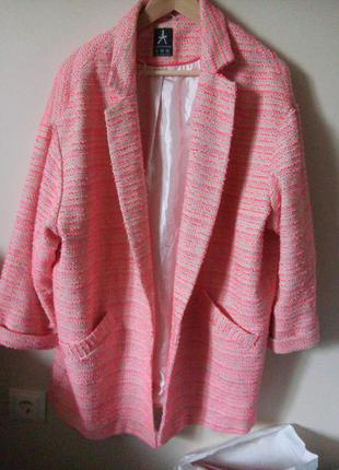 Весняне пальто oversize boyfriend / оверсайз бойфренд рожеве кашка