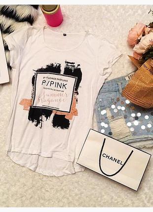 Белая футболка p/pink
