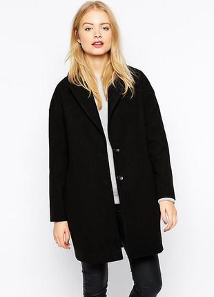 Черное пальто прямого кроя atmosphere пальто бойфренд