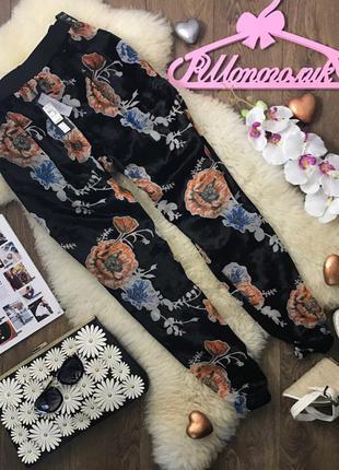 Необыкновенно красивые брюки в восточном стиле из бархата и шифона     pn390032    river island