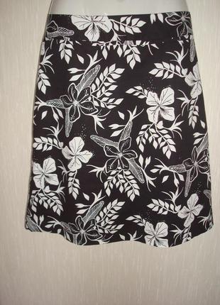 Черно-белая, летняя юбка h&m. большой выбор юбок