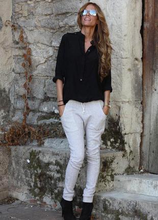 Чёрная рубашка/блуза zara. только продажа!