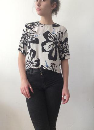 Шифоновая блуза разлетайка
