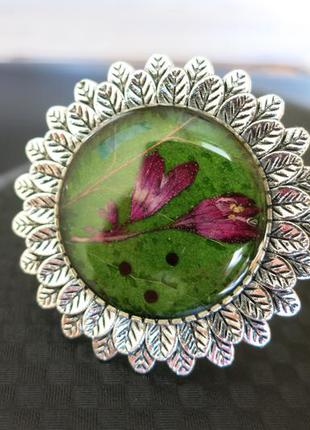 Восхитительное кольцо с настоящими цветочками и семенами