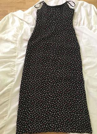 Платье миди из натурального шелка размер 40