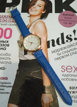Часы синее
