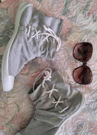 Кеди, кросівки сірі terranova серые кеды кросовки