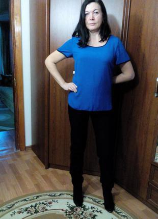 Блуза цвета индиго, 16 размер
