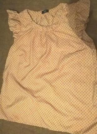 Летняя красивая блузка с принтом, f&f