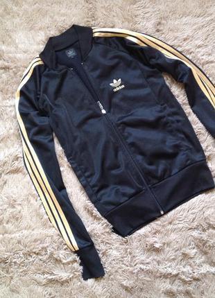 Черный бомбер спортивная куртка ветровка adidas