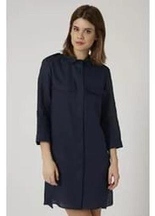 Трендовое платье рубашка темно-синего цвета