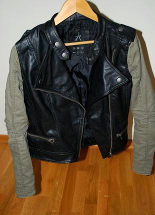 Крутая косуха от atmosphere, куртка косуха, кожанка, кожаная куртка