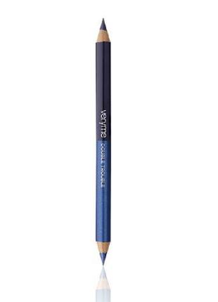Двусторонний карандаш для глаз «двойная игра»  кобальт & индиго
