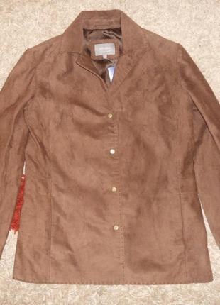 Новая замшевая куртка, пиджак per una (marks&spencer) р.8 ,оригинал