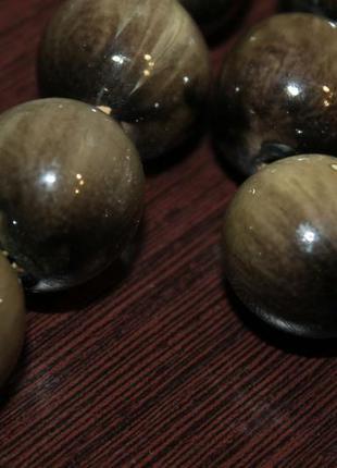 Бусы бежевый мрамор + браслет в подарок