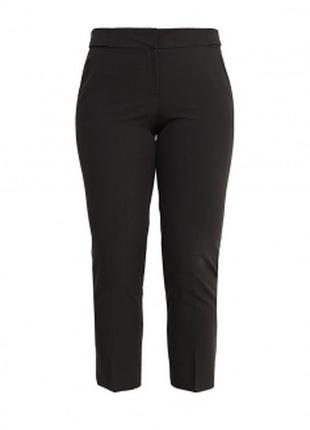Базовые черные брюки с косыми карманами большой размер р.20