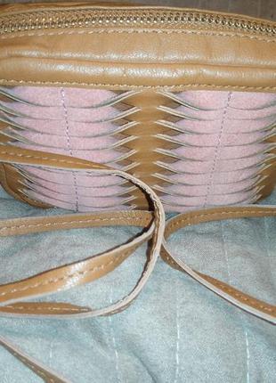 Кожаная сумочка через плечо topshop
