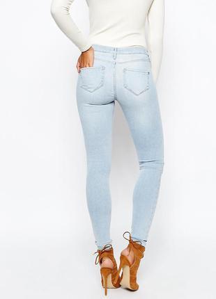 Светло голубые джинсы skinny pp.xs-s