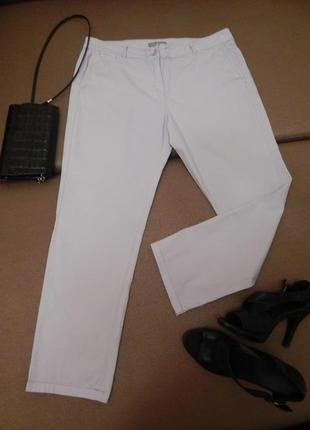 Светлые сиреневые котоновые штаны-джинсы большого 56-58 размера