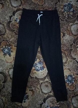 Спортивные теплые штаны h&m  basic (бангладеш)