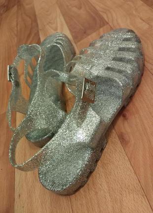Глиттерные силиконовые сандалии