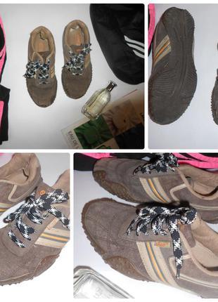 Замшевые натуральные кроссовки