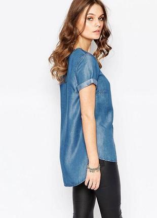 Крутая джинсовая футболка,блуза,рубаха из плотного джинса, jack & jones
