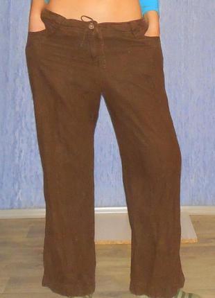 Брюки штаны льняные на широкие бедра xxl 34-35р.
