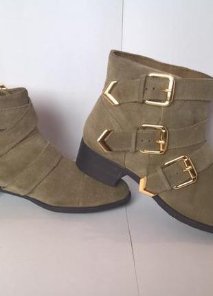 Ботиночки из натуральной кожи замша