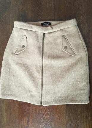 Тёплая стильная юбка