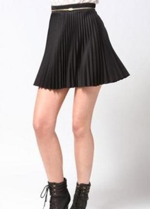 Интересная юбка / мини / плиссировка