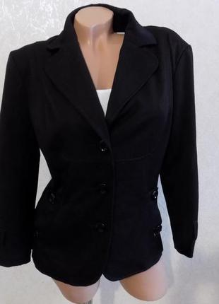 Пиджак черный на пуговицах фирменный street one размер 48