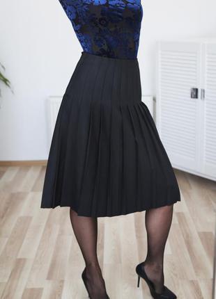 Плиссированная юбка, высокая талия,высокая посадка р.m-l